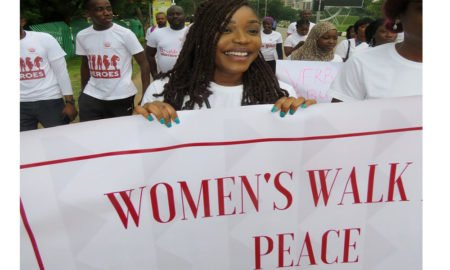 domestic violence walk for peace by a girl project