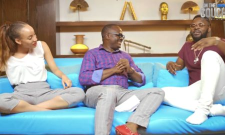 Olasubomi Okeowo on the couch