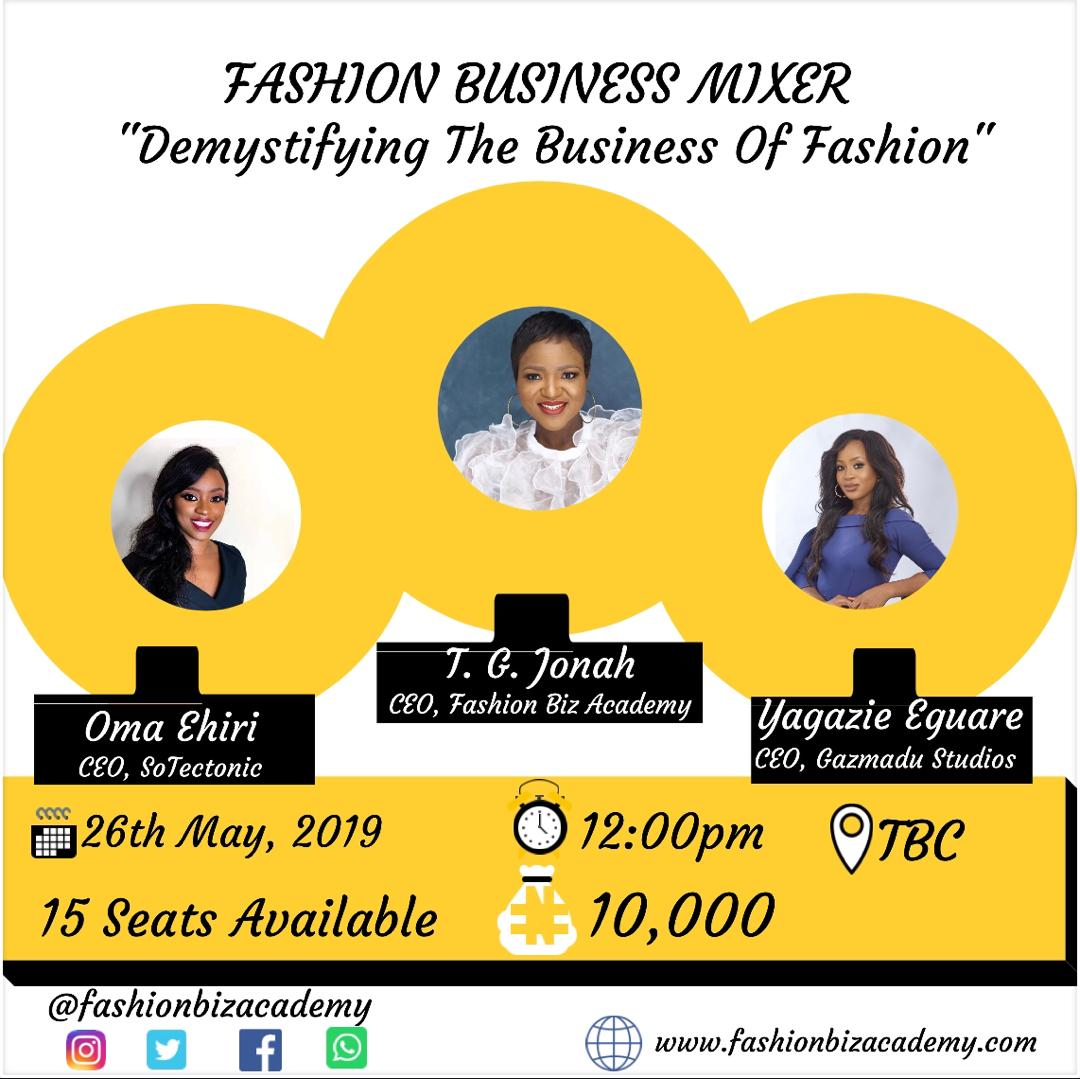 speakers at the fashion business mixer