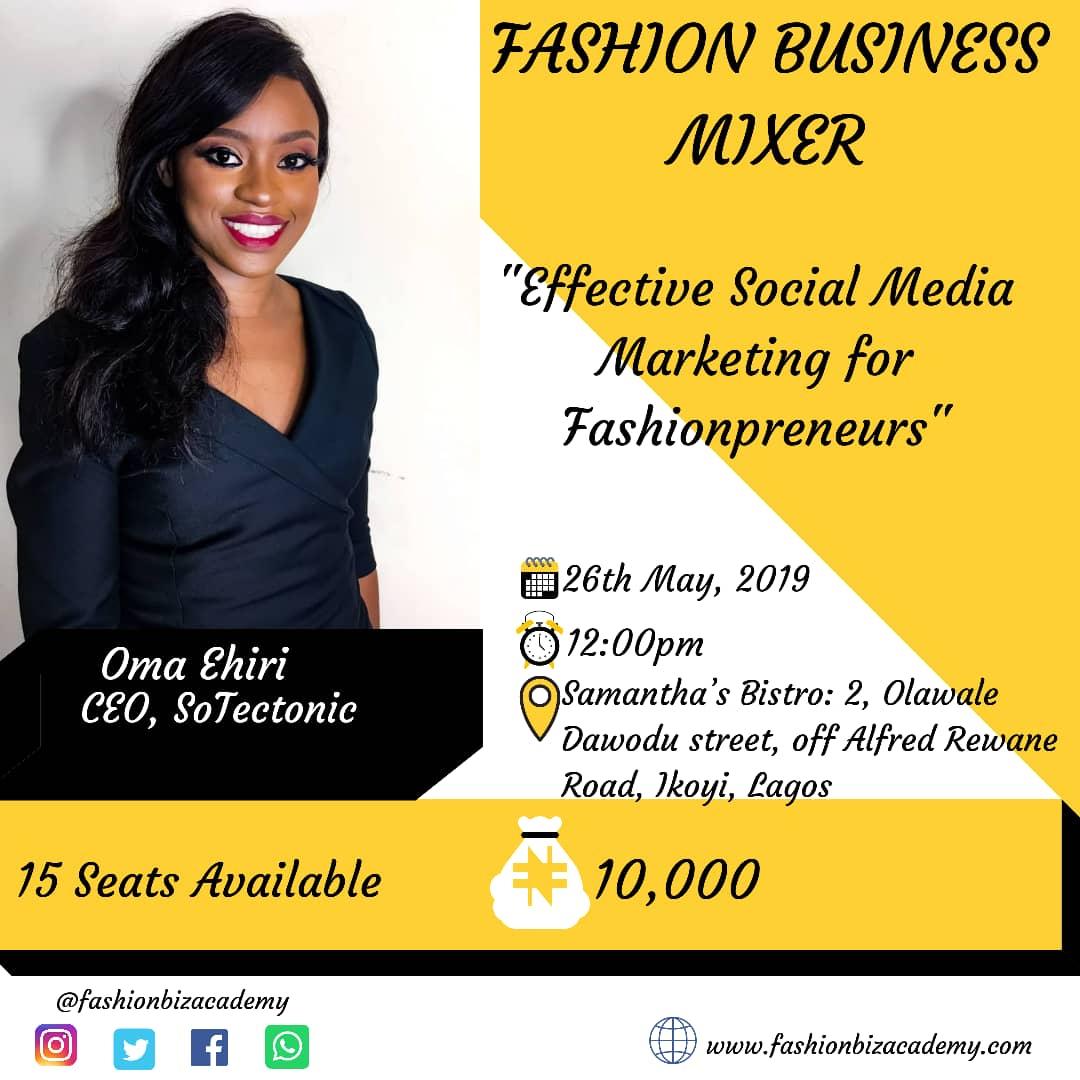 Oma Ehiri to speak at the fashion business mixer