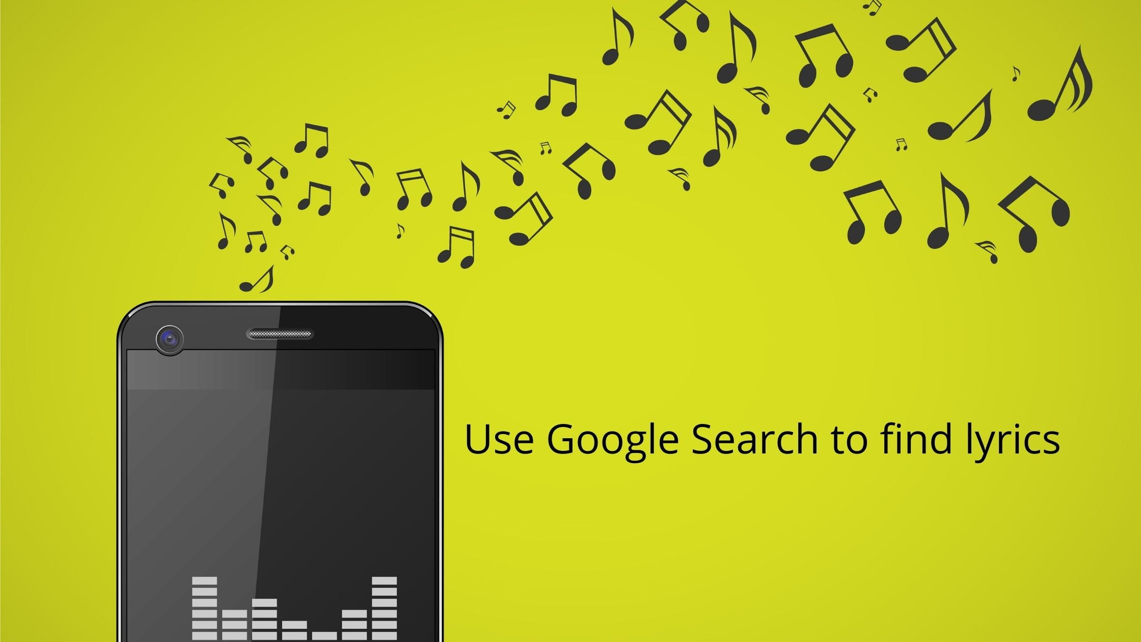 music notes and lyrics using Google search