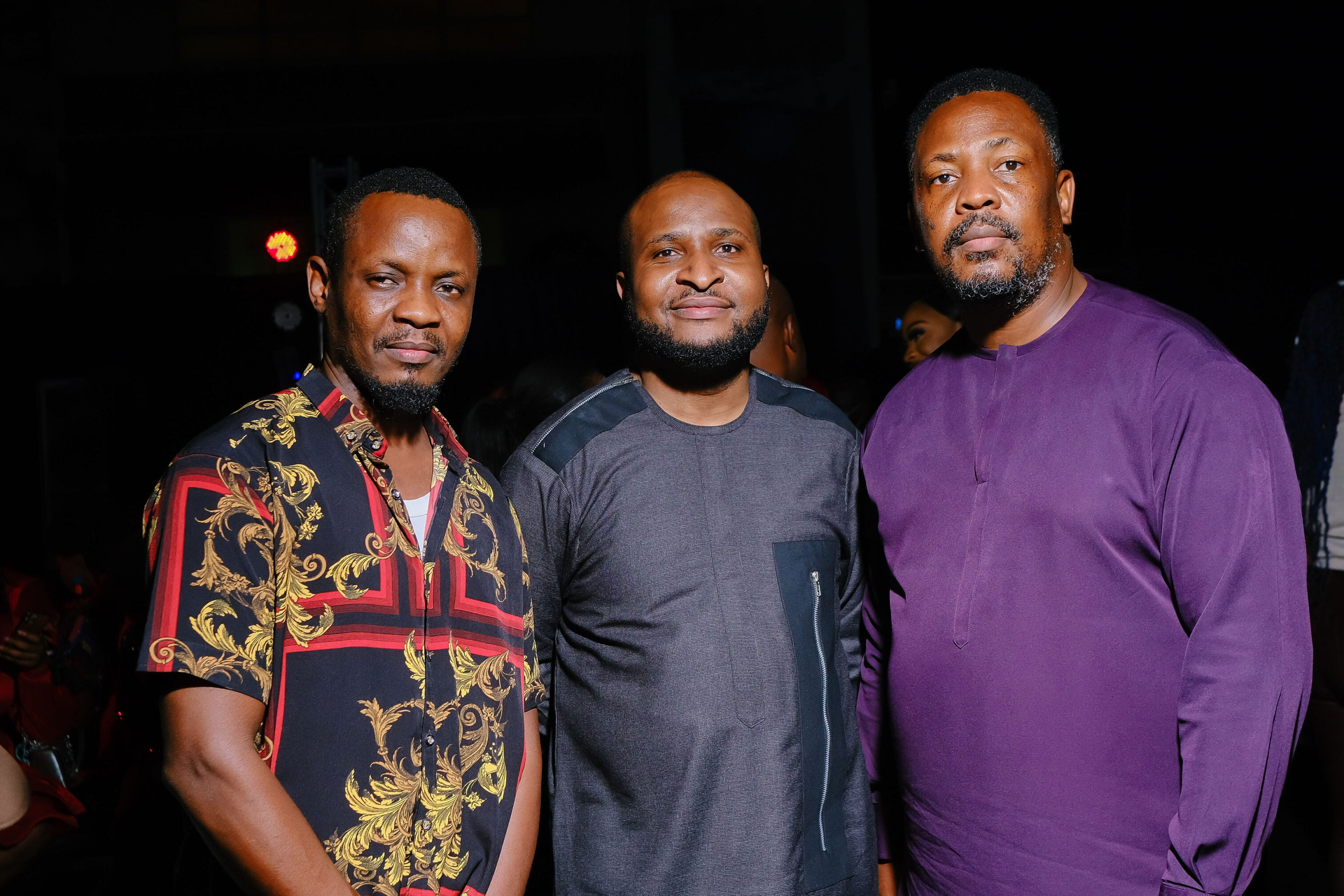 moses babatope and friends at the premiere of nneka the pretty serpent